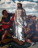 10th Stations of the Cross, Jesus is stripped of His garments Stock Images