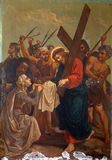 6th Stations of the Cross, Veronica wipes the face of Jesus Royalty Free Stock Images