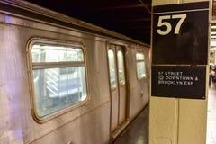 57th Streen gångtunnelstation - Manhatan, New York Arkivbilder
