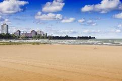 57th Street Beach (Chicago). CHICAGO, ILLINOIS - SEPTEMBER 6: 57th Street Beach on September 6, 2012 in Chicago, Illinois.57th Street Beach is one of the beaches Royalty Free Stock Image