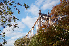 59th Street Bridge above the Trees Royalty Free Stock Images