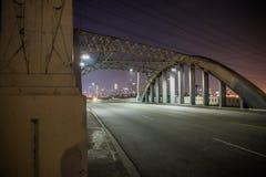 6th Street Bridge at night, Los Angeles. 6th Street Bridge at night in Los Angeles. Unfortunately this bridge was demolished last year Royalty Free Stock Photos