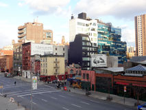 10th Street in Chelsea, New York from High Line Park Royalty Free Stock Image