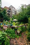 9th Street Community Garden Park, in the East Village, Manhattan, New York City.  stock photo