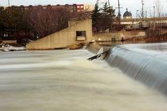 6th Street Dam Grand Rapids Royalty Free Stock Photos