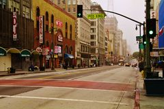 5th street Downtown Los Angeles CA. Stock Image
