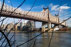 59th Street/Ed Koch överbryggar Arkivbild