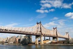 59th Street/Ed Koch överbryggar Arkivbilder