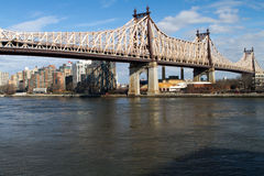 59th Street/Ed Koch Bridge. From Manhattan Royalty Free Stock Photo