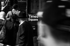 34th street Hudson Yards subway station- New York stock photos