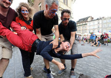 30th Street - International Festival of Street Theaters in Cracow, Poland. Stock Photos