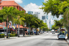 8th street in Little Havana, Miami Stock Photography