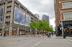16th Street Mall in Denver Colorado Royalty Free Stock Images