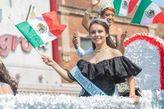 26th Street Mexican Independence Day Parade Chicago. Chicago, Illinois , USA - September 10, 2017, The 26th Street Mexican Independence Parade celebrates Mexican royalty free stock photos