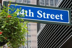 44th Street, New York Stock Image