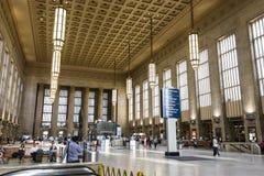 30th Street Station, Philadelphia. Philadelphia, Pennsylvania. Inside 30th Street Station, an intermodal transit station and Philadelphia`s main railroad station royalty free stock photo