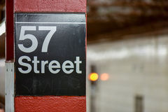 57th Street Subway - New York City stock image