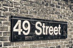 49th street subway sign, New York Royalty Free Stock Photos