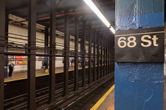 68th Street Subway Station Stock Photography
