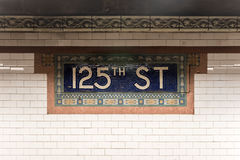 125th Street Subway Station - NYC Stock Photos