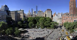 14th street Union Square Parl in New York City stock image