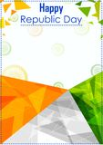 26th Styczeń, Szczęśliwy republika dzień India Zdjęcie Stock