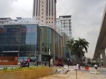 5th Subang Jaya Oct 2016, Malezja Pożarniczego świderu ćwiczenie przy szczytem Hotelowy Subang USJ zrobił rano Zdjęcie Stock