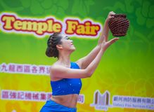 The 14th Tai Kok Tsui temple fair in Hong Kong. Royalty Free Stock Image