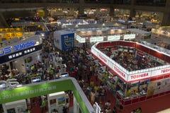 14th Taipei Multimedia,Cloud Industries & Marketing Expo. TAIPEI, TAIWAN - JULY 7: July 7th was the third day of the 14th Taipei Multimedia,Cloud Industries Royalty Free Stock Photos