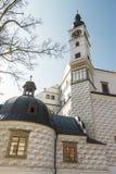 13th 14th aristokratiska 1560, som associatioen är slottet upphörde data för århundradekammarechateau, dilapidated det gotiska sa Royaltyfri Foto