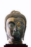 17th - 18th Century A.D. head from a buddha image in Ayutthaya Stock Images