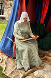 13th Century Lady in waiting Royalty Free Stock Photography