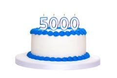 5000th torta di compleanno Immagine Stock