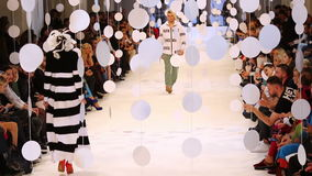 39th Ukrainian Fashion Week in Kyiv, Ukraine stock video footage