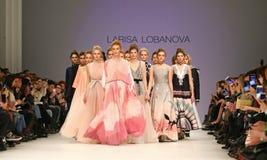 40th ukrainska modevecka i Kyiv, Ukraina Arkivfoto