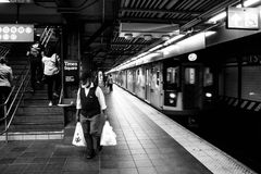 34th uliczna Hudson jardów metra stacja Nowy Jork Obrazy Royalty Free