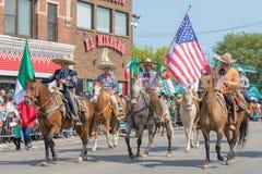 26th Uliczna Meksykańska dzień niepodległości parada Chicago Zdjęcia Stock