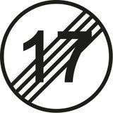 18th urodzinowy ruchu drogowego znak ilustracja wektor