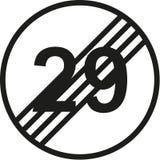 30th urodzinowy ruchu drogowego znak Obrazy Stock