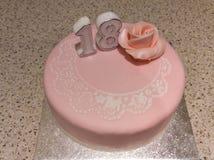 18th urodzinowy tort Zdjęcie Stock