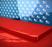 69th Venice Film Festival. The red carpet area during the 69th Venice Film Festival on September 8, 2012 in Venice, Italy Royalty Free Stock Image