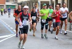 28th Venicemarathon: den amatörmässiga sidan Royaltyfria Bilder