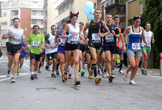 28th Venicemarathon: den amatörmässiga sidan Royaltyfria Foton