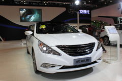 8th version of Sonata. Beijing Hyundai, China International Exhibition on Green and Energy Efficient Vehicles,in Beijing,China.October 17th,2014 Stock Image