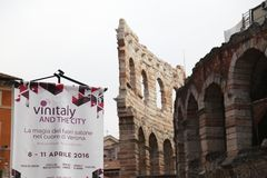 50th Vinitaly wine exhibitions in Verona - Italy Royalty Free Stock Image