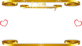 50th wedding anniversary. A 50th wedding anniversary border with copyspace, text Stock Photography