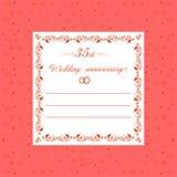 35th Wedding anniversary Invitation editable vector illustration Royalty Free Stock Images