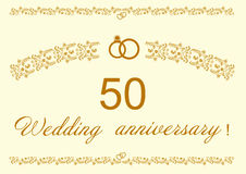 50th Wedding anniversary Invitation. Stock Images