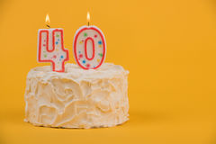 40th White Birthday Cake