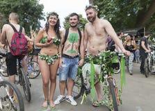 8th World Naked Bike Ride. Royalty Free Stock Photos